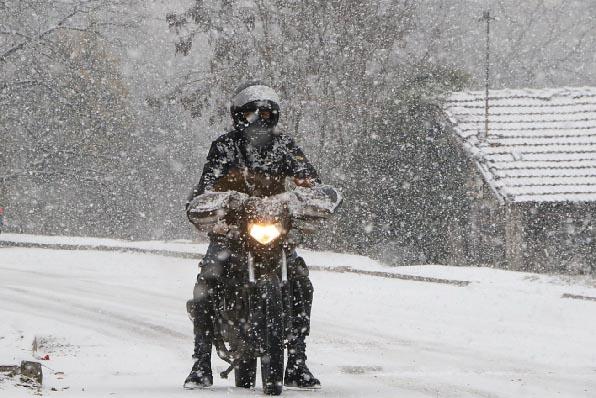 Karabük'te Kar Etkili Oldu