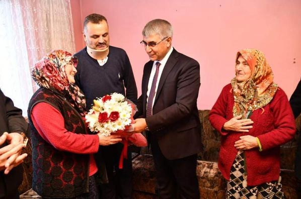 Vali Gürel'den Uzman Çavuş Islak ve Terör Gazisi Civelek'e ziyaret