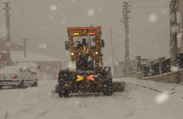 Safranbolu'da karla mücadele çalışmaları