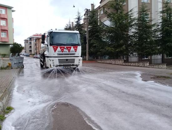 Safranbolu'da sokaklar yıkanıyor