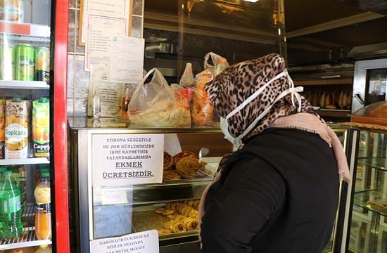 Fırıncıdan işini kaybedenlere ücretsiz ekmek