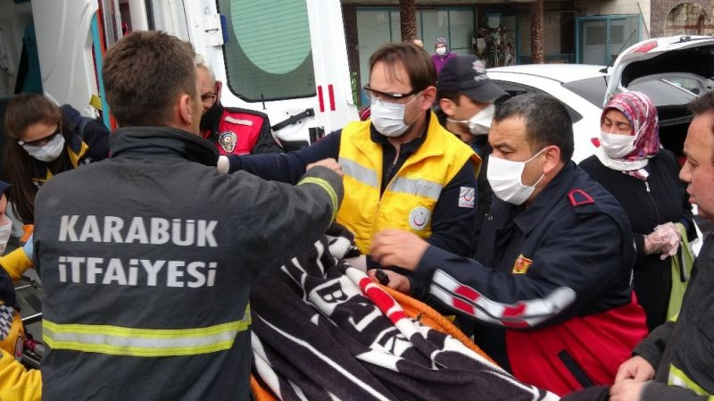 İntihara kalkışan kadını itfaiye ekipleri kurtardı