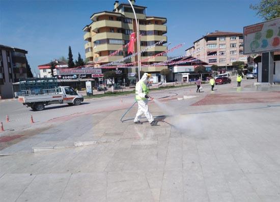 Safranbolu'da dezenfekte çalışmaları