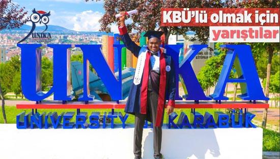 Uluslararası öğrenciler KBÜ'lü olmak için yarıştı