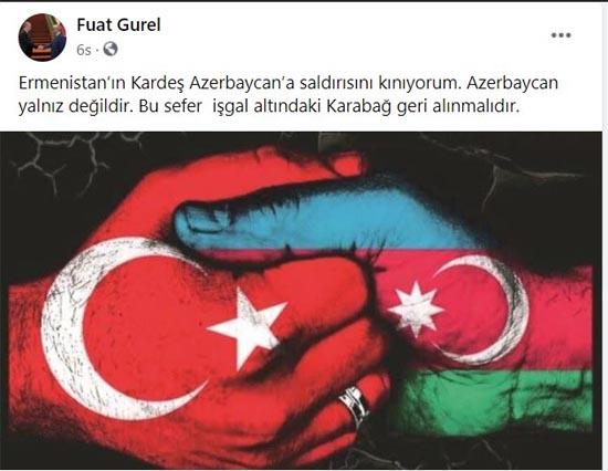 """KarabükValisi Gürel: """"Karabağ geri alınmalıdır"""""""