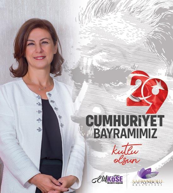 """Safranbolu Belediye Başkanı Köse: """" Cumhuriyetimizin 97.yıldönümü kutlu olsun"""""""