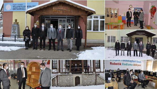 Safranbolu Kaymakamından okul ziyaretleri