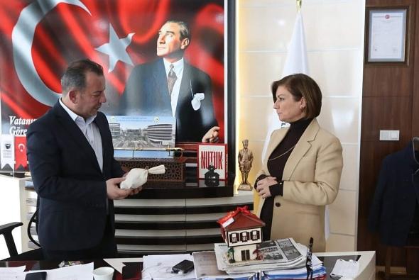 Başkan Köse'den Bolu Belediye Başkanı Özcan'a ziyaret
