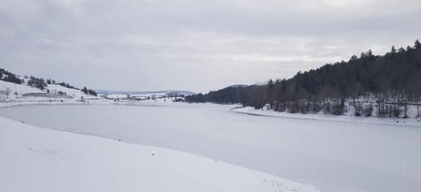 Eflani ilçesi buz kesti, eksi 24 dereceyi gördü