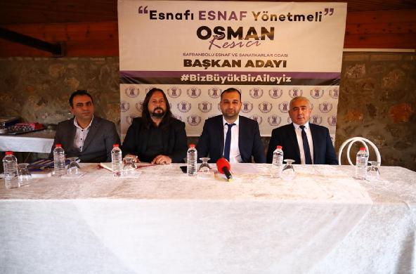 Kesici , Safranbolu Esnaf Odası Başkanlığına Adaylığını açıkladı